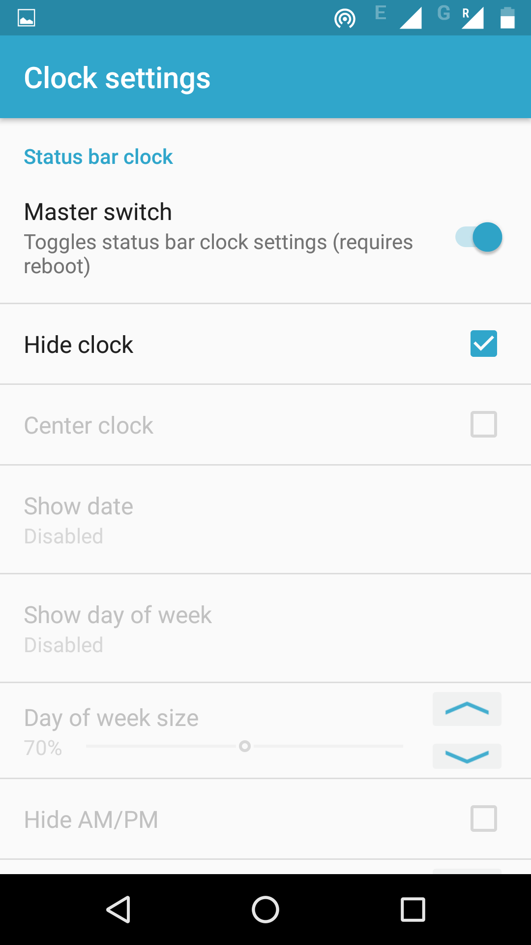 samsung j3 lock screen clock